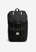 Hsin 現貨 Herschel Little America 大型 全黑 黑色 白條紋 筆電夾層 橡膠帶子 大容量 旅行 後背包