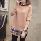 韓版襯衫領假兩件毛衣(5色F碼)*ORe...