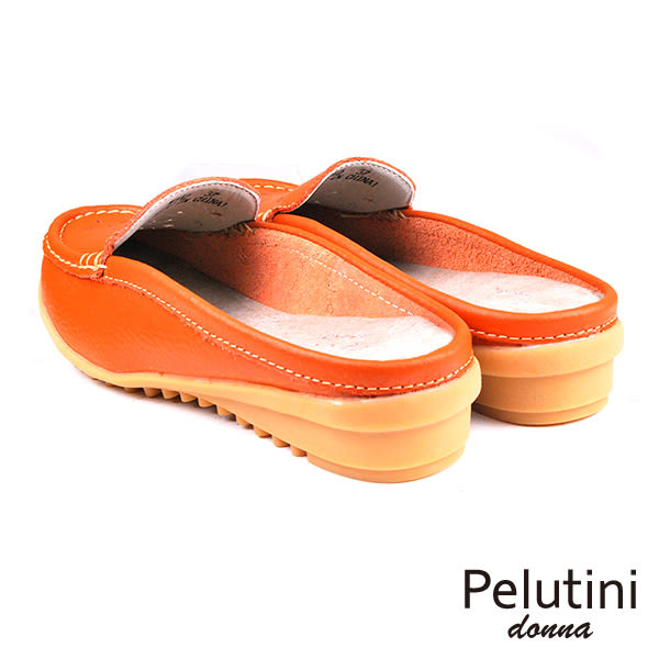 【Pelutini】donna透氣輕便穆勒鞋 橘色(W112-OR)