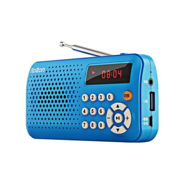 Rolton/樂廷 T30收音機老人便攜式老年迷你fm廣播半導體可充電【夏季狂歡八八折搶購】