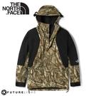 【The North Face 男 ICON 防水防風外套(美版)《森林印花/黑》】4R52/衝鋒衣/防水外套/風雨衣