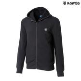K-SWISS Fleece Jaket休閒連帽外套-男-黑