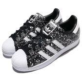 【海外限定】adidas 休閒鞋 Superstar W 黑 白 潑漆 經典款 運動鞋 女鞋 貝殼頭【PUMP306】 BY9172