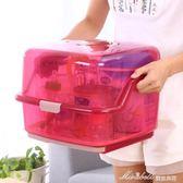 寶寶奶瓶收納箱帶蓋收納盒奶粉便攜瀝水晾干架奶瓶架嬰兒   蜜拉貝爾