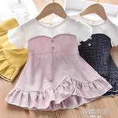 女童洋裝2019新款韓版洋氣夏裝1~3歲公主裙小女孩4~6歲洋裝子 韓語空間