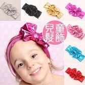 歐美周歲拍照頭飾 新款兒童髮圈 燙金金屬 大蝴蝶結