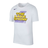 Nike 男 NBA 洛杉磯 湖人隊 白 籃球 短袖 上衣 AT0813-100