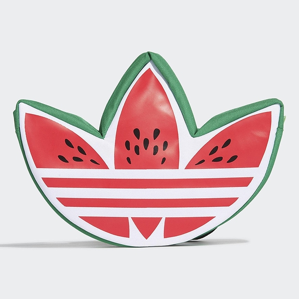 【現貨】ADIDAS LOGO 側背包 西瓜 休閒 潮流 紅 綠【運動世界】GN3225