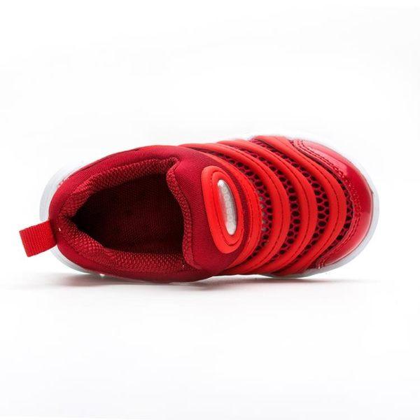 毛毛蟲童鞋毛毛蟲男童女童運動鞋跑步透氣k-shoes