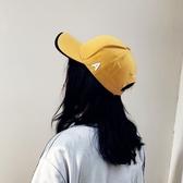 刺繡A字母雙帽檐棒球帽 休閒純色彎檐鴨舌帽【多多鞋包店】m262