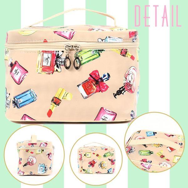 【小福部屋】日本 大容量攜帶式化妝包 可裝刷具旅行出差用 多色可選【新品上架】