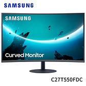 Samsung 三星 C27T550FDC 27型 75Hz 1080P 1000R曲面 VA面板 液晶 螢幕 顯示器