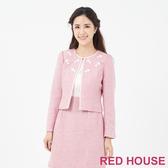 RED HOUSE-蕾赫斯-花朵羊毛外套(粉色)