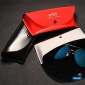 眼鏡盒眼鏡盒女正韓小清新復古優雅男折疊便攜眼睛盒子太陽鏡墨鏡盒
