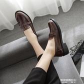 單鞋子女新款英倫風小皮鞋女生學生工作鞋平底休閒樂福鞋 凱斯盾