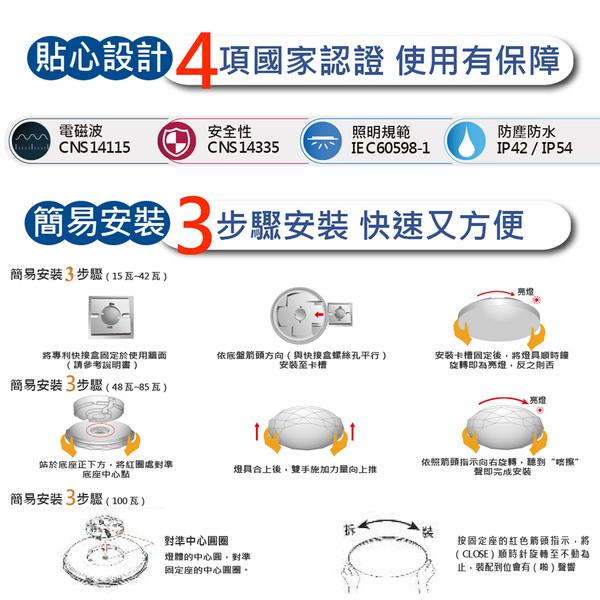 【亮博士LED】亮麗星空60W遙控吸頂燈適合8~10坪遙控調光調色 附遙控器