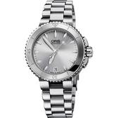 ORIS 豪利時 Aquis 300米女士潛水機械錶-36mm 0173376524141-0781801P