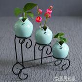 花器龍泉青瓷現代簡約家居客廳裝飾擺件工藝品小清新創意陶瓷花瓶花間公主