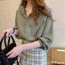 七分袖上衣 七分袖襯衣女夏季薄款2021新款洋氣寬鬆甜美氣質棉麻襯衫溫柔上衣 618購物節