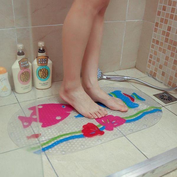 卡通浴室防滑踩腳地墊 衛生間廁所淋浴衛浴門口洗澡PVC防水腳踏墊