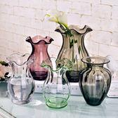 歐式迷你小浮雕玻璃手工創意水培綠蘿花瓶Dhh4687【潘小丫女鞋】
