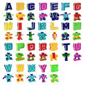 【888便利購】ABC字母變形積木機器人(每款2變/26款字母)(授權)