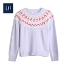 Gap女童民族風格織紋套頭針織衫527371-紫色
