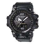 【CASIO】 G-SHOCK 刁悍 極限大陸太陽能電波運動雙顯錶-黑(GWG-1000-1A1)
