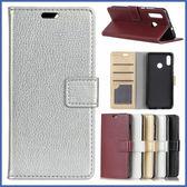 HTC U19e 荔枝紋皮套 手機皮套 插卡 支架 掀蓋殼 保護套