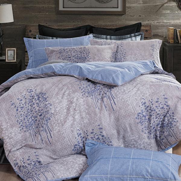 床包 / 雙人加大【寂靜樹林】含兩件枕套  100%精梳純棉  戀家小舖台灣製