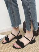 社會拖鞋女夏外穿時尚百搭女士兩穿網紅涼拖中跟chic女鞋【東京衣秀】