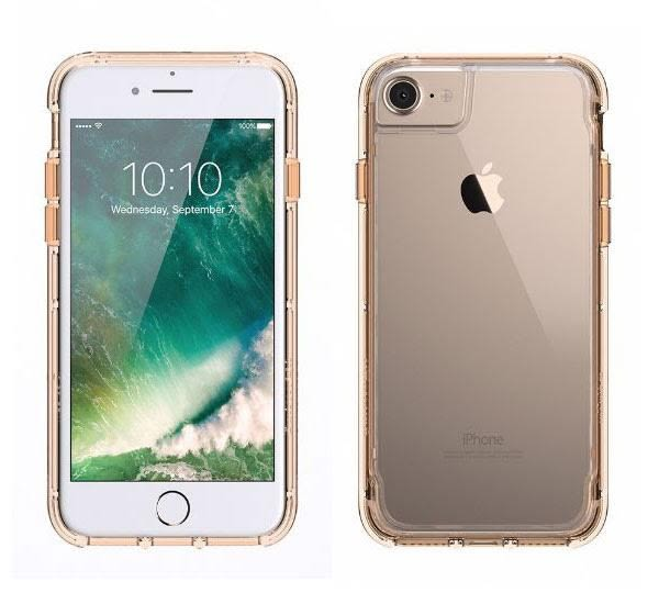 【漢博】Griffin Survivor Clear iPhone 7 Plus軍規防摔殼 - 金邊框