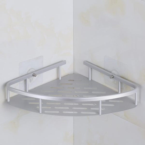 EC022 太空鋁單層三角籃 無痕強力貼(單釘)*2 易利裝 置物架籃 收納架籃  無痕黏貼