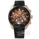 ALBA / VK63-X027K.AU2182X1 / 玩轉時尚 經典三眼計時 日期 防水100米 不鏽鋼手錶 玫瑰金x鍍黑 46mm