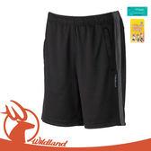 【Wildland 中性 透氣抗UV排汗短褲《黑》】W1666/透氣機能褲/休閒褲/運動褲/防曬/吸濕排汗