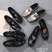 豆豆鞋男韓版百搭社會精神小伙男鞋快手紅人懶人皮鞋