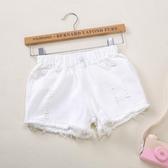 2019新款女童短褲夏季破洞牛仔褲中童大童小孩褲子兒童薄款