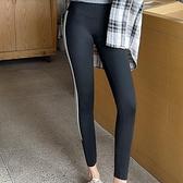 長褲內搭褲緊身褲M-3XL打底褲大碼芭比褲瑜伽褲鯊魚皮外穿高腰條紋4F054-3360.