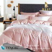 全鋪棉天絲床包兩用被 特大6x7尺 貝洛妮(粉) 100%頂級天絲 萊賽爾 附正天絲吊牌 BEST寢飾