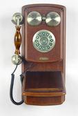 金屬雙鈴掛壁電話復古造型電話按鍵式電話禮物-達可家居