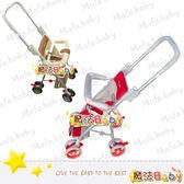 魔法Baby~台灣製造透氣布兩用機車椅手推車(紅.咖共兩色)~商品安全標章:R53265