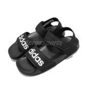 adidas 涼鞋 Adilette Sandal K 黑 白 魔鬼氈 涼拖鞋 基本款 女鞋 大童鞋 中童鞋【PUMP306】 G26879