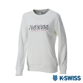 K-SWISS Round Sweat Shirts女圓領長袖上衣-女-白