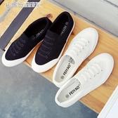 帆布鞋 夏季透氣白色潮鞋透氣布鞋時尚百搭帆布鞋男士一腳蹬懶人鞋休閒鞋 繽紛創意家居
