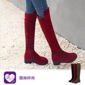 簡約大方磨砂素面拉鍊圓頭方跟長靴/3色/35-43碼 (RX1238-Z8-2) iRurus 路絲時尚