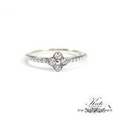 北歐四葉幸運草鑲鑽純銀戒指 銀飾 潘朵拉款 迷人線戒 925純銀寶石戒指 #9、10 KATE 銀飾