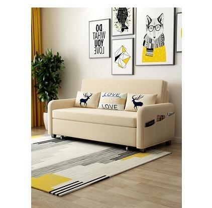 摺疊沙發床兩用可摺疊客廳小戶型1.2米雙人三人1.8米省空間帶儲物 MKS宜品居家
