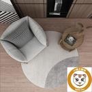 圓形羊羔絨地毯北歐客廳臥室墊家用床邊地墊【小獅子】
