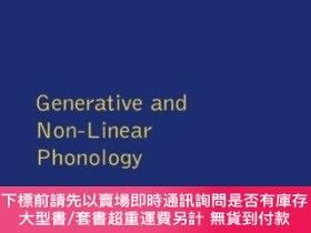 二手書博民逛書店Generative罕見And Non-linear Phonology (longman Linguistics