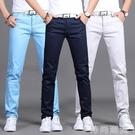 薄款新款休閒褲子男士青年商務修身大碼直筒寬鬆潮流百搭